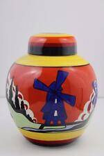 Wedgwood Clarice Cliff Blue Windmill Jar Ltd Ed of 250 Certificate N:175 Boxed