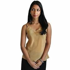 "Soft Brown Silk Camisole by Royal Silk - XS (32""-33"") - 100% Silk Crepe de Chine"