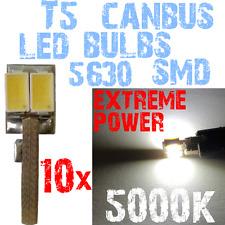 10x LED T5 5630 Blanc 5000K Anti Erreur CANBUS Lampe Pratique Ampoule 1B10 1B10-
