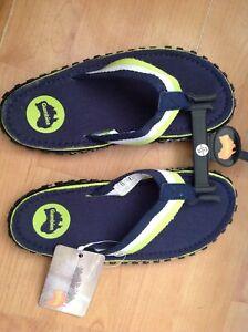 Gumbies Islander Flip Flops Boys/girls Size 2/34 New Shop Clearance