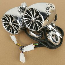 """1 """" Handlebar Chrome Sound Speaker System For Harley Heritage Softail Sportster"""