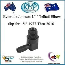 "A New Evinrude Johnson 1/4"" Telltail Elbow 6hp-thru-V6 1977-Thru R 321886"