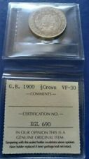 1900 GREAT BRITAIN Half 1/2 Crown Silver Coin  Queen Victoria ICCS VF-30