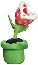 "Sanei Officially Licensed Super Mario Plush 9"" Piranha Plant Japanese Import"