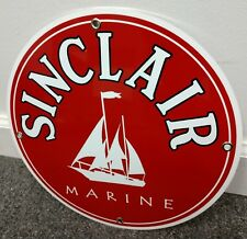 Sinclair Marine Gas company Oil gasoline sign ..FREE ship on 10 signs