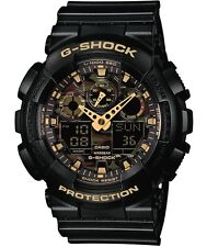 Casio G-Shock * GA100CF-1A9 Camo Face Black Gold Ivanandsophia COD PayPal