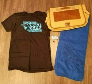 Moody Blues Package - Quality Canvas/Leather Brief Case, T Shirt, Blanket