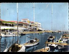 PALAVAS-les-FLOTS (34) HOTELS LE SPHINX & LE KING / BATEAUX au PORT en 1960