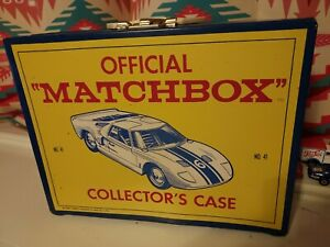 Vintage 1966 Official Matchbox Series Collector's Case. Ford GT 41