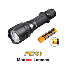 Fenix FD41 LED Zoomable Focusing Tactical Flashlight Torch + USB Battery