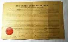 1890-Kansas Hamilton County Land Deed  - Signed J.M. Townsend 2nd Afro-American