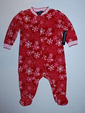 Schlafanzug~USA~Gr.44~Strampler~Einteiler~Frühchen~Fleece~Pyjama~Schneeflocke