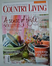 Country Living Magazine. November, 2009. Issue No. 287. A Sense of Style. Crafts