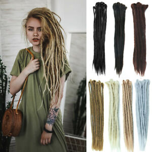 "20"" Synthetic Handmade Dreadlock Double Ended Dreads Locs Crochet Hair Extension"