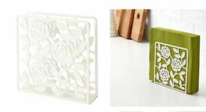 Ikea White Metal Floral Napkin Holder Decorative Pretty New Liksidig Y154