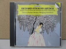 JAPAN/W.GERMANY FULL SILVER DG- Dieskau/Sawallisch- Strauss Lieder Songs CD 1984