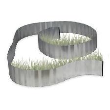 Relaxdays Rasenkante verzinkt Beeteinfassung Wurzelsperre Beetumrandung Metall
