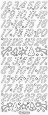 Stickerbogen, Zahlen 1-24, Adventskalender, Gold, Nr. 8525
