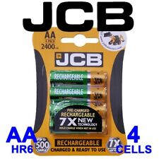 4x JCB AA 2400mAh NiMH Pre-Charged Rechargeable HR6 Batteries