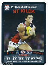 2010 Teamcoach Prize Card (P - 163) Michael GARDINER St. Kilda