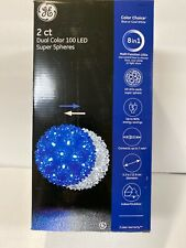 """2 GE Dual Color Choice 100 LED 5.5"""" Super Sphere Lights Blue/Cool White 8in1"""