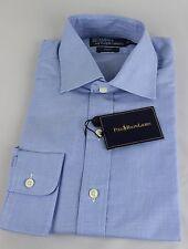 Ralph Lauren Polo Regent Dress Shirt Mens 17.5 44 Blue White Navy Pony