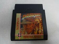 Indiana Jones Temple Of Doom Original Nintendo NES Cart Only Free Ship