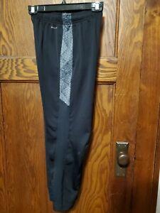Nike Dri Fit Boys Athletic Sports Pants Size Youth Large Black Pockets