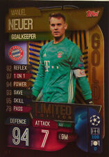 Topps UEFA Champions League 2019 - 2020 LIMITED EDITION GOLD NEUER