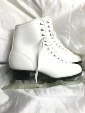 Ccm Gold Medal White Womens Figure Ice Skates Size 10