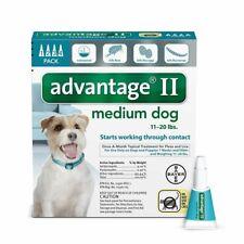 🌸🌸 ADVANTAGE 2 MEDIUM DOG 11-20lb 4 MONTH SUPPLY 🌸🌸