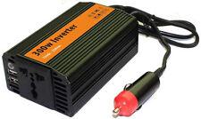 300 W vatios Auto Batería Power Inverter Adaptador Auto Dc 12v A Ac 230V con 2 X Usb