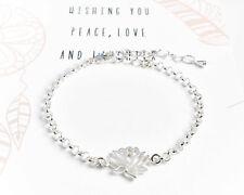 "Silberarmband ""Lotusblume"" Armband 925 Silber Blume Geschenk Schmuck Frauen"