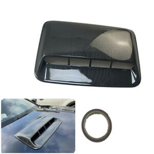 Air Flow Vent Cover Car Exterior Styling Glossy Black Carbon Fiber Look 40X28CM