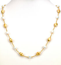 "Honora Cultured Fresh water Pearl Yellow Bronze 24"" Long Necklace"