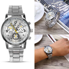 Men's Business Watches Stainless Steel Band Analogue Quartz Wrist Watch Official
