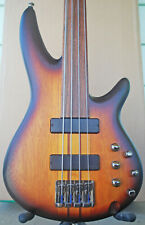 Ibanez SRF700 Fretless Electric Bass w/HSC and accessories
