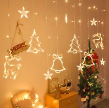 LED lights for Christmas Curtain light garland star Bells decor for home 220V