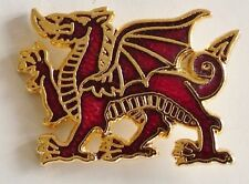 ROYAL WELCH FUSILIERS CLASSIC DRAGON HAND MADE GOLD PLATED LAPEL PIN BADGE
