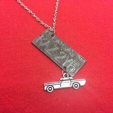 Supernatural Themed; Impala Inspired License Plate & Impala Necklace.