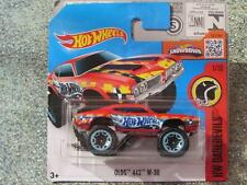 Hot Wheels 2016 #161/250 OLDS 442 W-30 red monster truck HW DAREDEVILS Case J