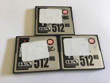 3pcs 512mb Lexar got stickers on Compactflash memory  CF I for CF Nikon,Canon