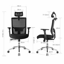 Ergonomic Office Chair High Back Swivel Mesh Chair Computer Desk Task Chair
