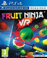Fruit Ninja VR Sony PlayStation Ps4 Game 3 Years