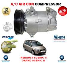FOR RENAULT SCENIC II GRAND SCENIC II AIR CON COMPRESSOR 1999-> 1.4 1.6 1.5 dCi