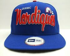 NEW ERA Quebec Nordiques HAT NHL Hockey Snapback Blue One Size Cap NEW