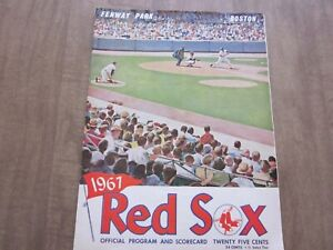 1967 Boston Red Sox vs Cleveland Indians Program (1st Edition)