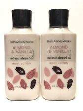 New 2 Bath & Body Works Almond & Vanilla Hand Body Lotion Cream 8 Oz Almond Oil