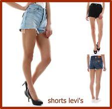 shorts levis jeans 501 donna pantaloncini corti vita alta bermuda vintage levi's
