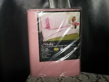 vtg Medley Perma Prest Percale Full flat bed Sheet Sears chic pink cottage NOS